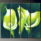 Hand-painted Modern 4-piece Professional Flower Canvas Art Oil Painting for Wall Decoration FL4-111