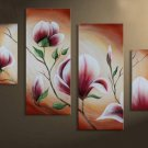 Free Shipping Framed Floral Modern Abstract Huge Canvas Art Oil Painting  FL4-132