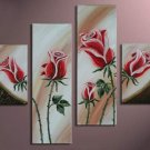 Modern Handpainted Decorative Huge Flower Oil Painting on Canvas by Professionals FL4-116