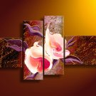 Contemporary Handpainted Huge Flower Oil Painting on Canvas for Home Decor by Professionals FL4-141