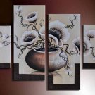 Hand-painted Modern Wall Decor Art 4-piece Floral Oil Painting on Canvas FL4-135