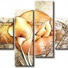 Framed Modern Abstract Flower Wall Art Canvas Oil Painting FL4-148