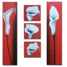 Contemporary Handpainted Huge Flower Oil Painting on Canvas for Home Decor FL5-073