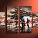 Hand made African Abstract  lover landscape Home Decor Oil Painting on canvas (+Framed) AR-006