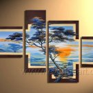 Handpainted African Abstract Pine Tree Oil Painting on Canvas(+Framed) AR-008