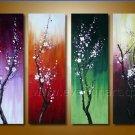 Framed Handmade Flower Oil Painting on Canvas FL4-108