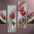 Framed!! Wall Decor Flower Oil Painting on Canvas FL4-116