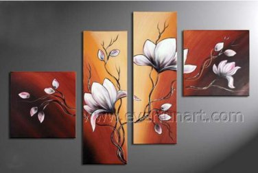Stretched!! Flower Oil Painting on Canvas FL4-117