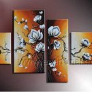 Stretched Decorative Flower Oil Painting on Canvas FL4-123