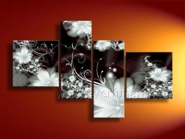Framed!! Flower Oil Painting on Canvas for Decor (FL4-124)