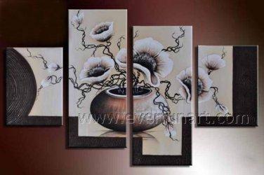 Handmade Flower Oil Painting on Canvas (+Framed) FL4-135