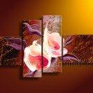 Modern Wall Art Flower Oil Painting on Canvas (+Framed) FL4-141