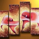 Modern Home Decoration Flower Oil Painting on Canvas (+Framed) FL4-145