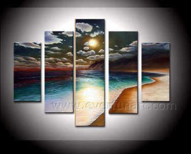 Pure Hand Painted Seascape Oil Painting on Canvas for Decor (+ Framed) SE-187