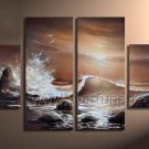 Beautiful Waves on Seascape Oil Painting of Canvas Art (+Framed) SE-195