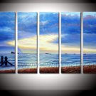 Beautiful Light on Canvas of Seascape Painting (+Framed) SE-196