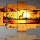 Home Decor African Art  Landscape Oil Painting (+ Framed) AR-092