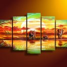 Amazing African Art Oil Painting on Canvas (+ Frame) AR-105