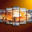 Modern Wall Canvas Art of African Oil Painting (+ Framed) AR-107