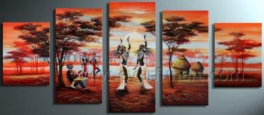 Decorative African Art Oil Painting on Canvas (+ Frame) AR-112