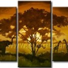 Amzing African Art Oil Painting on Canvas (+ Frame) AR-118