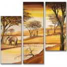 100% Hand Painted African Art Painting (+ Frame) AR-131