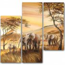 Large Canvas Art African Oil Painting for Wall Decor (+ Framed) AR-133