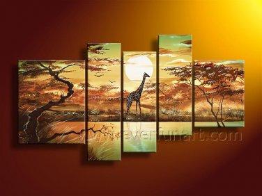Huge Canvas Art Giraffe Oil Painting for Home Decor (+Framed) AR-137