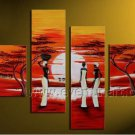 Pure Hand Painted Huge Wall Decor African Oil Painting (+Framed) AR-139