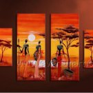 Huge Modern Wall Art African Oil Painting on Canvas (+Framed) AR-143