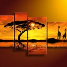 100% Handmade Canvas Art African Oil Painting (+Framed) AR-153