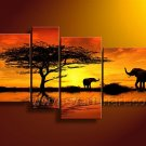 Huge Wall Decor African Art Oil Painting on Canvas (+ Framed) AR-154