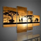 Modern Large Size Wall Decor African Art Oil Painting (+Framed) AR-095