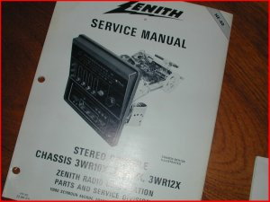 NOS NEW Heathkit/Zenith AM/FM Receivers 8 track Manual