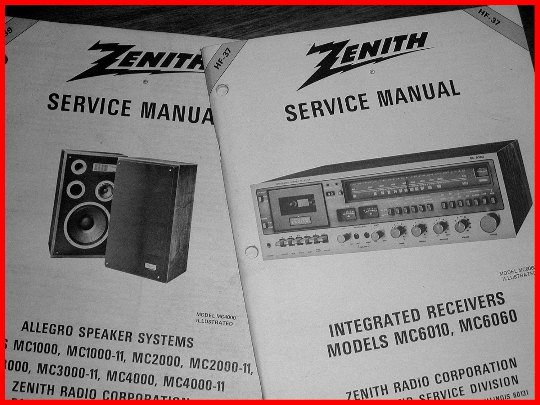 2 NOS NEW Heathkit/Zenith AM/FM Stereo Receiver Manuals