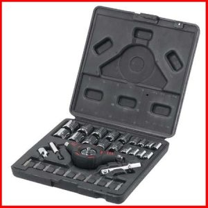 NEW NIB 33pc PALM-GRIP RATCHET Set Kit SAE/METRIC + Bits