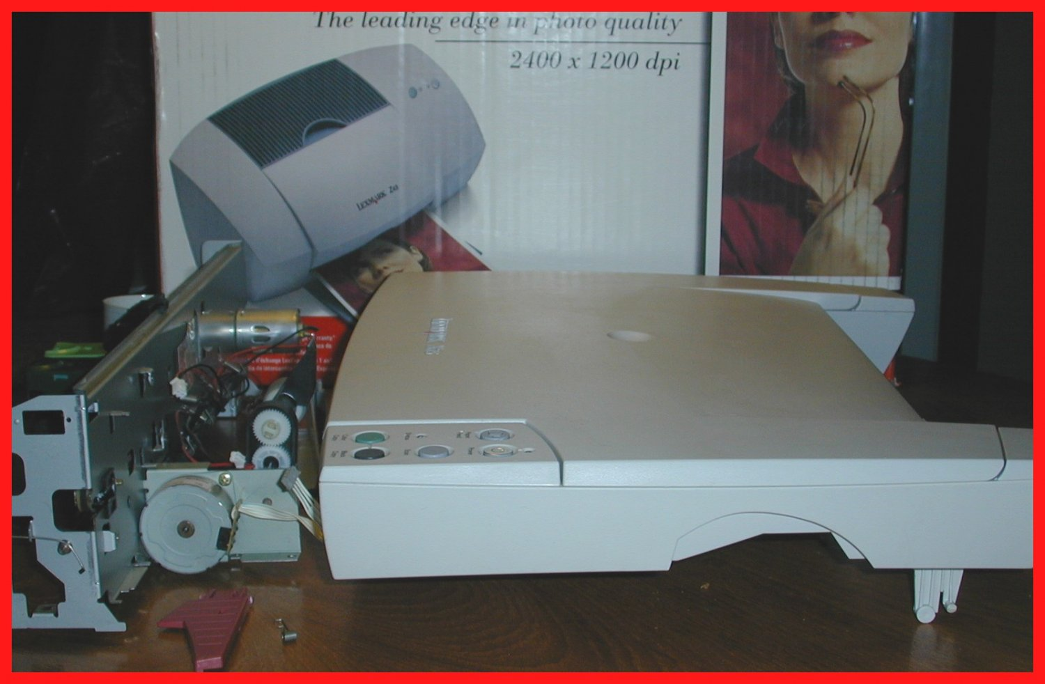 LEXMARK X75 ALL-IN-ONE Printer Inkjet TRAY & PARTS ONLY