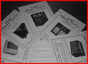 RARE Vintage 1940-1950's WESTINGHOUSE Radio Phono Manuals