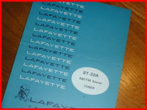 NEW Lafayette ST-20 AM/FM Stereo Tuner Manual & SCHEMATIC