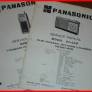 2 Manuals Vintage PANASONIC AM/FM Portable Radio RF-660 TRANSCEIVER Ch11 CB R-J3