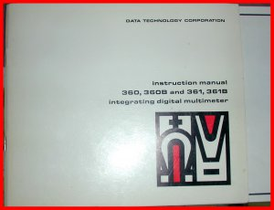 DATA TECHNOLOGY MANUAL Digital Multimeter 360 361 SERVICE Calibration SCHEMATICS