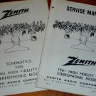 TWO NOS NEW Manuals Heathkit/Zenith AM/FM Stereo Receivers 1960-1961 Many Models