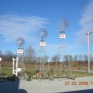 12 ft Made in USA Aluminum Garden Windmill - Red