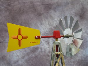 17 Inch Mini Windmill New Mexico Tail