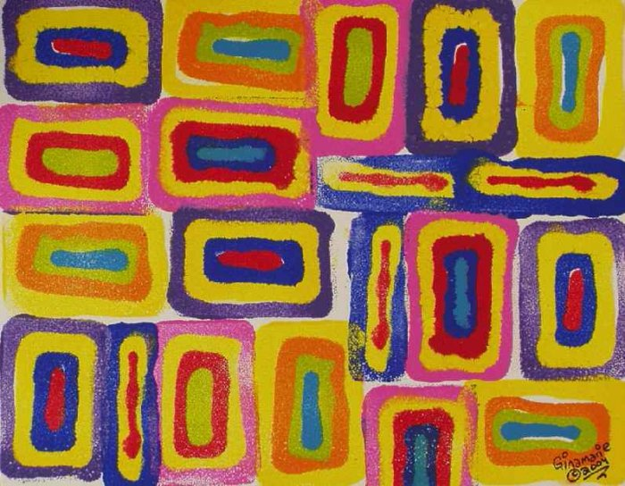 Happy Spirit Cool Abstract Ginamarie Art Original Painting