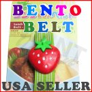 Strawberry Bento Japanese Lunch Box Belt - Elastic Strap From Japan NEW