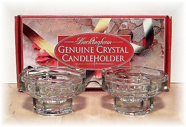 BUCKINGHAM GENUINE CRYSTAL -Candle Holders - house hold - home decor