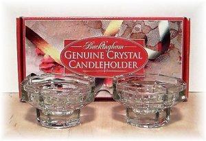 BUCKINGHAM GENUINE CRYSTAL -Candle Holders - house hold - home decor