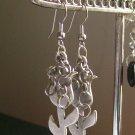Silver Tulip Hooped Earrings