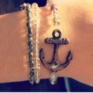 Anchor Bracelet Set